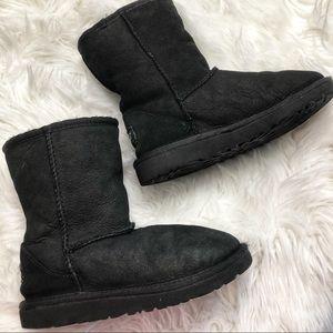 Ugg Girls Short Black Boots Size 1